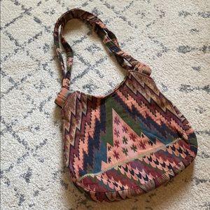Vintage Tapestry Print Shoulder Bag